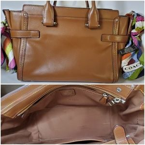 Coach Bags - Coach Multicolor Rainbow Swagger Leather Bag